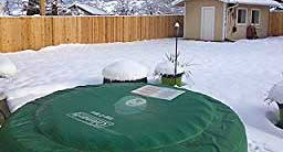 Coleman Hot Tub In Winter