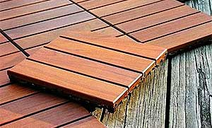 Hot Tub Wood Deck Tiles