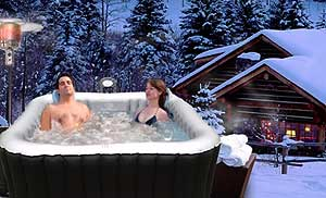 Inflatable Spa Heating in Winter