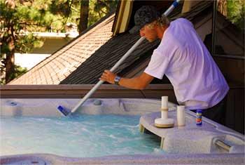 Scrubbing Hot Tub